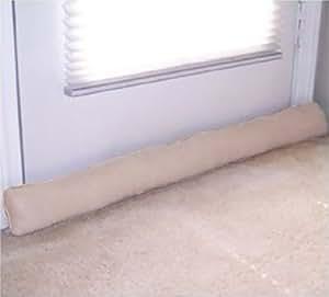 Door and window draft stopper tan home for Front door draft stopper