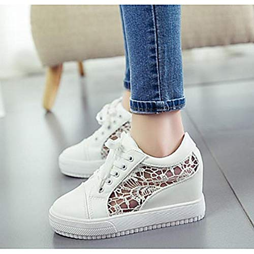 Bianco Sneakers Tulle UK6 US8 Punta Tonda White Comoda CN39 Nero Scarpe Estate Piatto TTSHOES Per Donna EU39 Primavera qP00ta