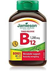 Jamieson Vitamin B12 Tablets, Timed Release, 1,200 mcg, 80 Count (Pack of 1)