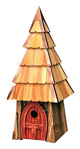 Heartwood 195C Lord of the Wing Bird House in Redwood Finish