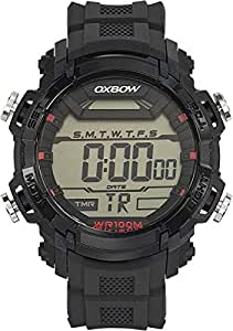 Oxbow Men`s Digital Dial Rubber Band Watch [4552901]