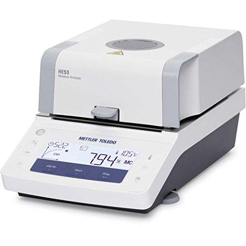Mettler Toledo 30100251 Model HE53 Halogen Moisture Analyzer, 54 g x 1 mg