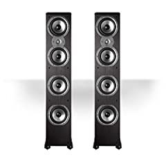 High performance tower with four 6 1/2-inch drivers.