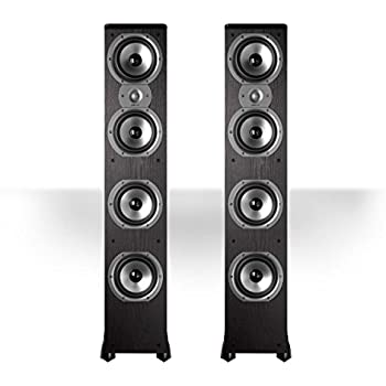 """Polk Audio TSi500 High Performance Tower Speakers with Four 6-1/2"""" Drivers - Pair (Black)"""