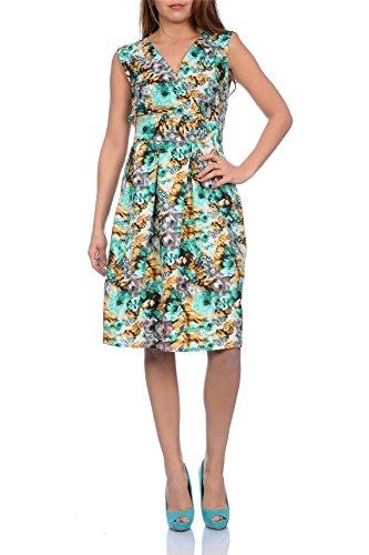 Kleid knielang blumenmuster