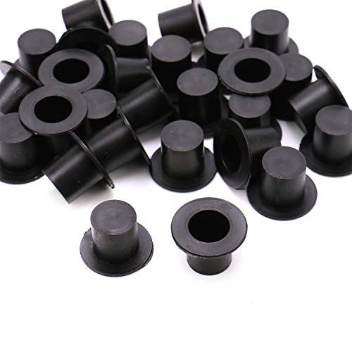 JETEHO 100 Pieces Mini Black Top Hats, Plastic Magician Hats for DIY Decoration Party - Hat Top Plastic Mini