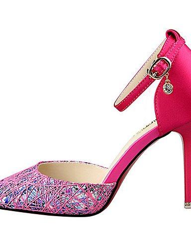 GGX/ Damen-High Heels-Kleid / Party & Festivität-Stoff-Stöckelabsatz-Absätze / Komfort / Spitzschuh-Schwarz / Lila / Rot / Grau fuchsia-us5.5 / eu36 / uk3.5 / cn35