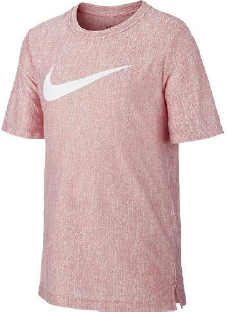 NIKE B Nk Dry SS Top Camiseta de Manga Corta, Niños, University Red/White, M: Amazon.es: Deportes y aire libre