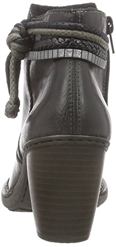 Rieker 55298 Damen Stiefeletten Grau (fumo/schwarz/argento / 46)