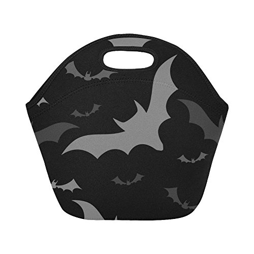 Silly Meow Custom Lunch Bags Halloween Bats Lunch Bag Lunch Box Lunch Tote For Adult Teens