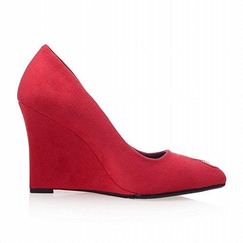 Charme Pied Nouveau Printemps Mode Femmes Talon Talon Pompes Chaussures Rouge