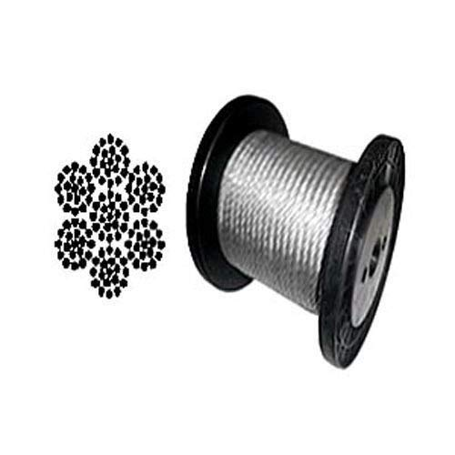 Galvanized Aircraft Cable Wire Rope 3/8'' 7x19-50, 100, 150, 200, 250 1000 ft (100 ft Coil)