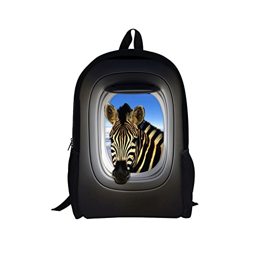 TOREEP Funny Creative Giraffe Cow Printed Animal Backpack Durable - D&g Sunglasses Canada