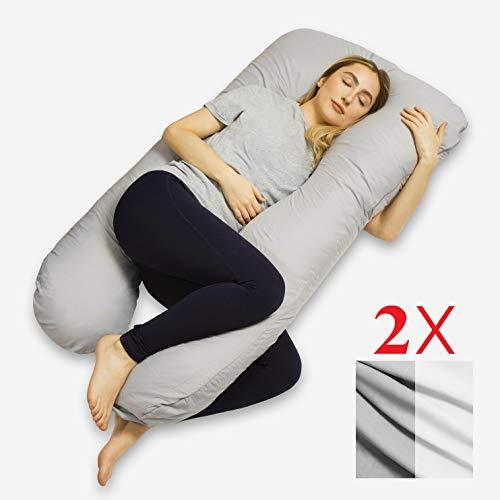 VOLL GETESTET Schwangerschaftskissen Mit 2 Freien Bezgen, Stillkissen, Pregnancy pillow, U-förmiges Kissen