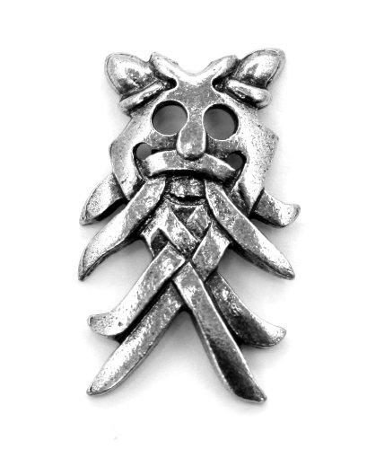 Dios nórdico Odin máscara insignia en peltre Inglés fino, hecho a ...