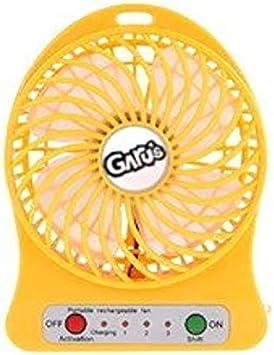 Portable USB Fan Yellow