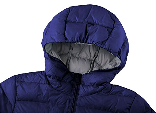 Wantdo with Boy's Navy Puffer Down Jacket Hood Packable Lightweight Ux7qvw1Ur