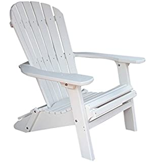 Elegant Phat Tommy Recycled Poly Resin Folding Deluxe Adirondack Chair U2013 Durable  And Patio Furniture, White