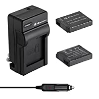 Powerextra 2 Pack Battery and Charger for Panasonic DMW-BCM13, DMW-BCM13E, DMW-BCM13PP and Panasonic Lumix DMC-FT5, DMC-TS5, DMC-TZ37, DMC-TZ40, DMC-ZS30, DMC-ZS35, DMC-ZS40, DMC-ZS45, DMC-ZS50