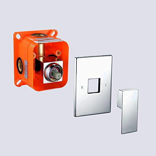 Ceramic Trim Shower (SR SUN RISE Square Manual Bathroom Single Function Shower Mixer Valve Control Ceramic Valve)