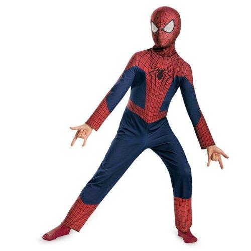 The Amazing Spider Man Halloween Costumes (Disguise Marvel The Amazing Spider-man 2, Spider-man Value Costume, Child Large 10-12)