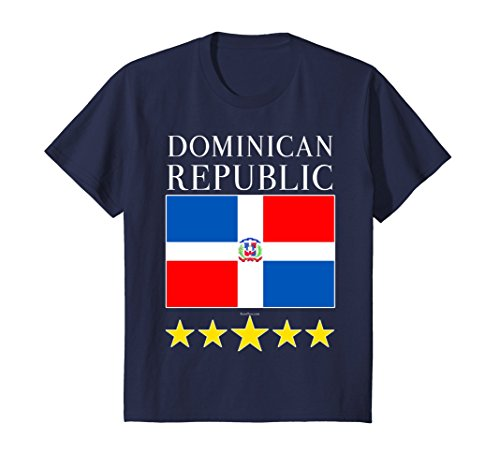 Dominican Coat Of Arms - Kids Dominican Republic T-Shirt with Flag & Coat of Arms Gift 10 Navy