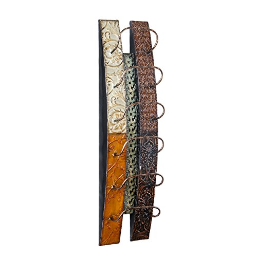 Southern Enterprises Adriano Wine Bottle Wall Mount Rack Storage - Holds 6 Bottles - All Metal Construction