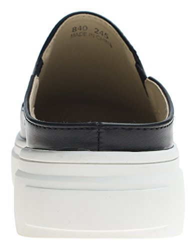 Womens Slip Slide Backless Vegan Soft Ons Black Sneaker AnnaKastle Comfort Leather OqTOXd