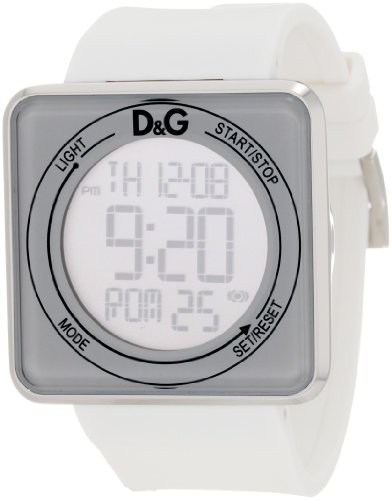 D&G Dolce & Gabbana Women's DW0735 High Contact White Dial & Strap Touch Screen Watch