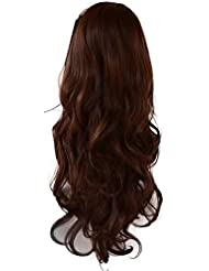 Amazon auburn hairpieces extensions wigs accessories 22 ladies 34 wig half fall clip in hair extension pmusecretfo Choice Image