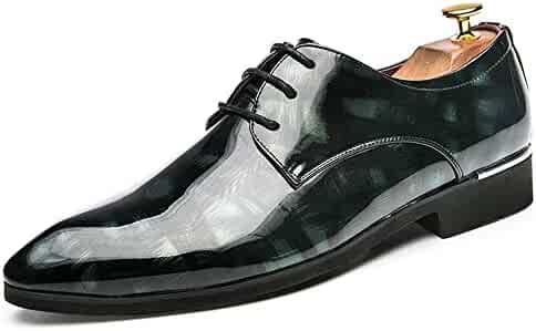 aa360308021 Dig dog bone Men s Fashion Oxford Casual Comfortable Simple Personality  Texture Patent Leather Formal Shoes (