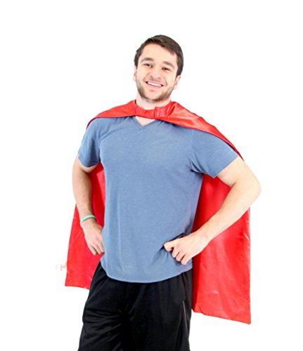 Super Grover Costume Adults (Reversible Adult Red and Red Superhero Costume Cape)