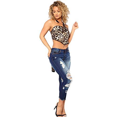 Dames IrrGulier Bombe Tricot Trou Jeans Sauvage Bleu Denim Bleu Taille Jean Pantalon Automne Tudiants Stretch Slim Femme DChiquet Hips Et Haute SOMESUN Serr Printemps Coton ZqR8w
