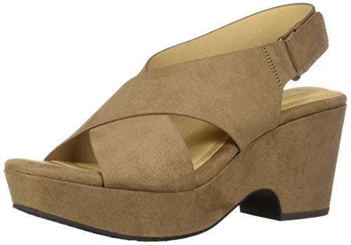 CL by Chinese Laundry Women's Capital Heeled Sandal, Taupe Suede, 7 M US