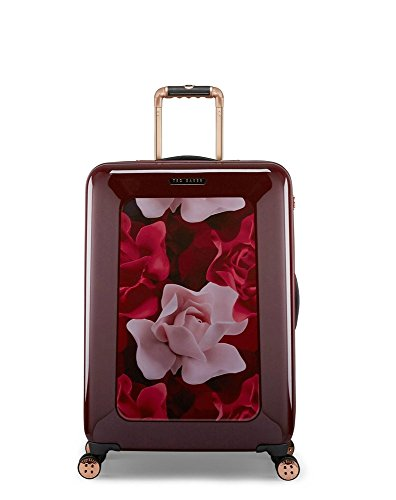 Burgundy 600 Denier Polyester - Ted Baker Luggage Floral Hardside Hardside 28 Inch Lightweight Spinner (Burgundy Porcelian Rose)
