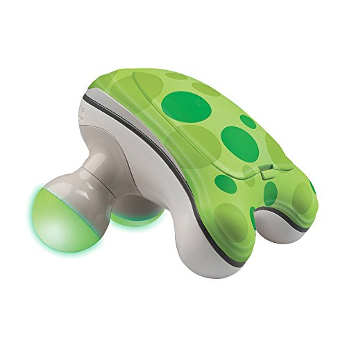 HoMedics  Ribbit Handheld Mini Massager | Vibration Massage, Illuminated Feet, Battery Operated, Assorted Colors | Lightweight, Muscle Kneading for Back, Shoulders, Feet, Legs, & Neck, White ()