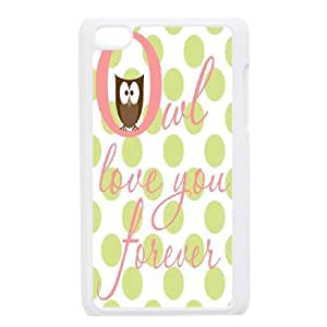 """cute owl-qoutes """"owl you need is love"""" series case cover FOR IPod Touch 4th SB4561890"""
