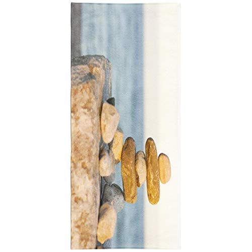 (WAYATO Native-American-Art Microfiber Beach Towel BeachBlanket Fast Dry Compact Beach Towels Native Northern Canadian American Lake Culture Art Sculpture Swimming Gym Camping Sunbath 30x60 Inch )
