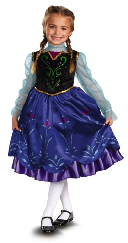 [Disguise Disney's Frozen Anna Deluxe Girl's Costume, 4-6X] (Costumes Shoes For Kids)