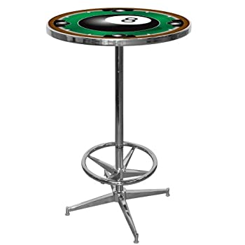 Image of Bar Tables Trademark 8-Ball Pub Table, Green