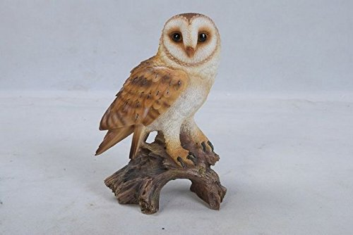 Hi-Line Gift 87767-E Owl on Stump Statue44; Barn – Small