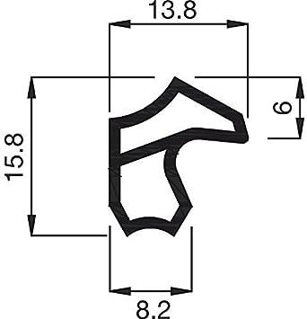T/üranschlag-Dichtung braun Falzbreite 12 mm Gedotec Stahl-Zargendichtung braun T/ürzargen-Dichtung 1 St/ück Dichtung f/ür Eisen- /& Metall-Zargen 5 Meter Ersatzdichtung f/ür Stahlzargen M 2246