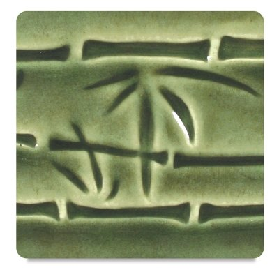 AMACO Potter's Choice Lead-Free Glaze, 1 pt, Dark Green PC-45