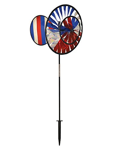 In the Breeze Double Wheel Patriotic Sparkle Spinner with Wind ()