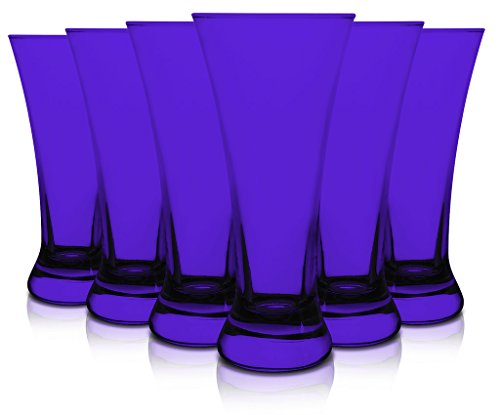 Color Puple Shot Glass – Hurricane Style 1.5oz set of 6 By tabletop king