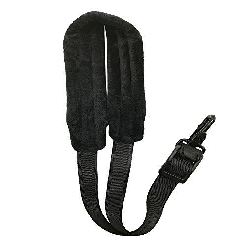 WISHAVE Saxophone Neck Strap Soft Padded Baritone Bari Alto Sax Harness Black by WISHAVE (Image #1)
