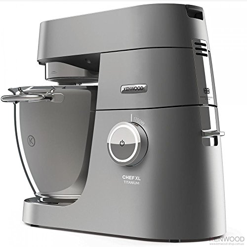 Kenwood Chef XL Titanium KVL8460S 29 Cups Food Processor with Pulse Function, Silver - Kenwood Hand Mic