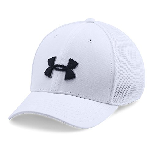 lassic Mesh Golf Cap, White (100)/Black, Youth X-Small/Small (Kids Golf Hats)