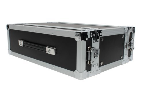 XSPRO XS3U-10 3 Space 3U ATA Effects Rack Flight Case Front and Back Rails - 19'' Wide