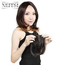 Neitsi 25g 1pc Clips in Synthetic Hair Bang Fake Front Full Hair Pieces 17Colors avaliable (4#)